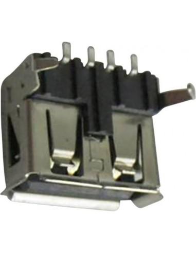 Connfly USB A horizontale inbouwbus, soldeeruitvoering, type DS1095-BNM0